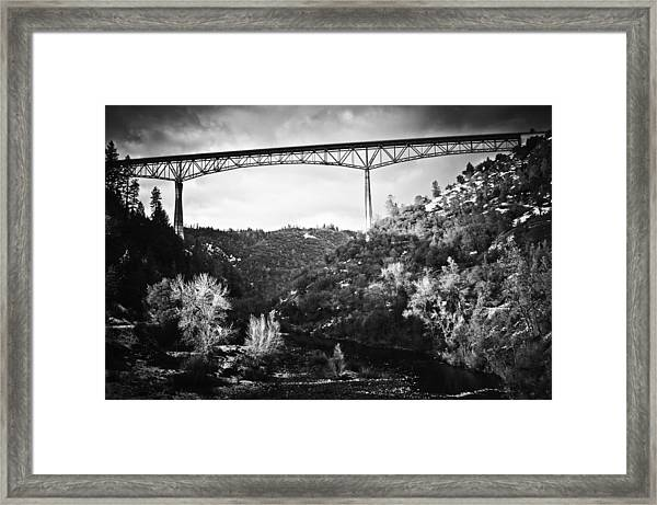 Foresthill Bridge In The Snow 2 Framed Print