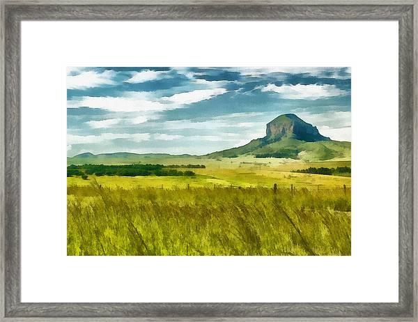 Forgotten Fields Framed Print
