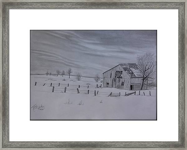 Forgotten In The Snow Framed Print by Tony Clark