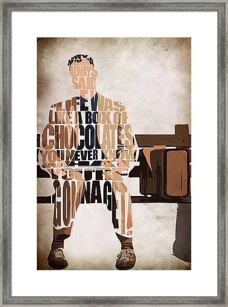 Forrest Gump - Tom Hanks Framed Print