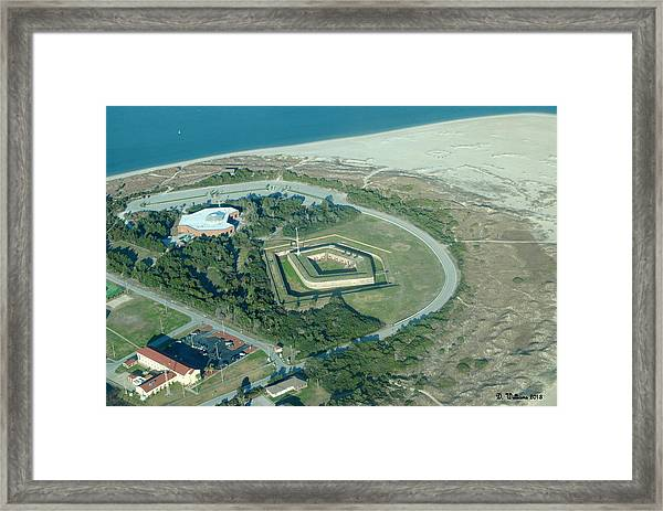 Fort Macon From The Air Framed Print