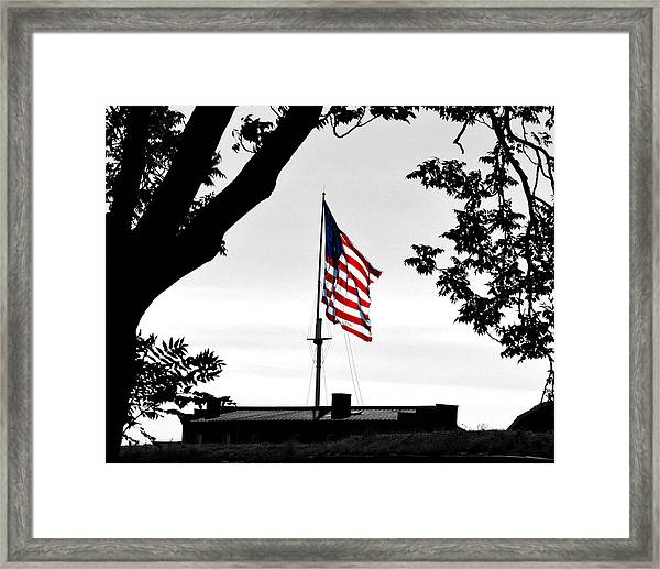 Fort Mchenry Flag Color Splash Framed Print