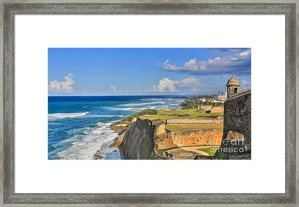 Fort San Cristobal Framed Print by Mina Isaac