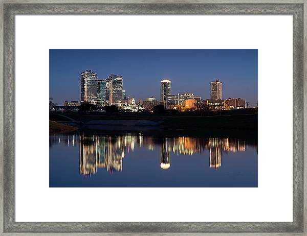 Fort Worth Skyline 020915 Framed Print