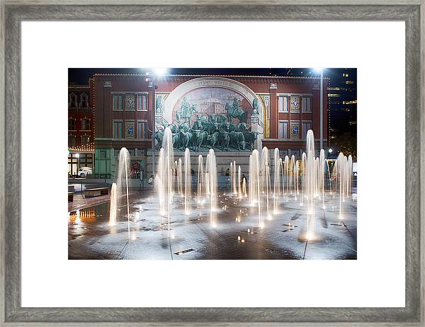 Fort Worth Sundance Square Aug 2014 Framed Print