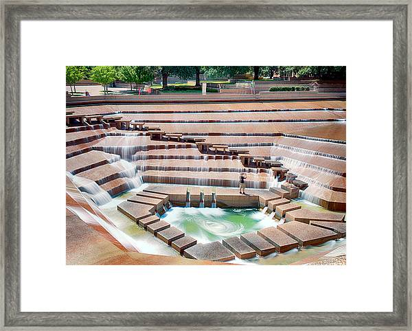 Fort Worth Water Garden V7 Framed Print