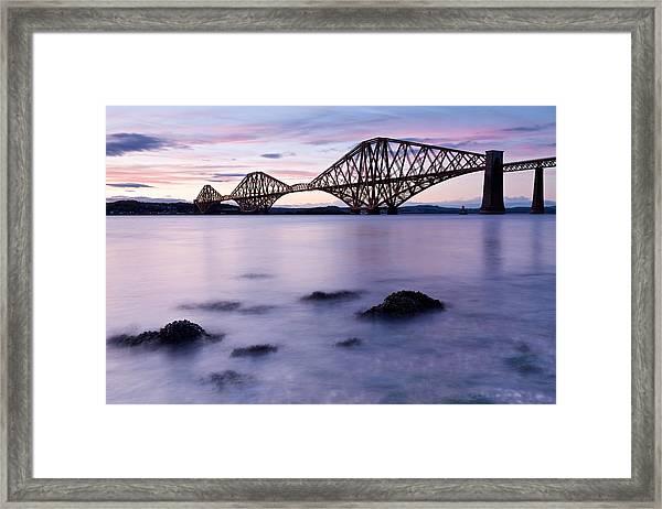 Forth Bridge At Sundown Framed Print