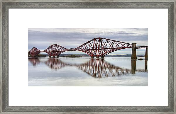 Forth Bridge Reflections Framed Print