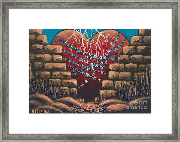 Fortress Around Your Heart Framed Print