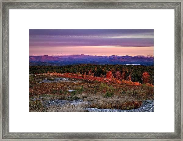 Foss Mountain Sunrise Eaton Nh Framed Print