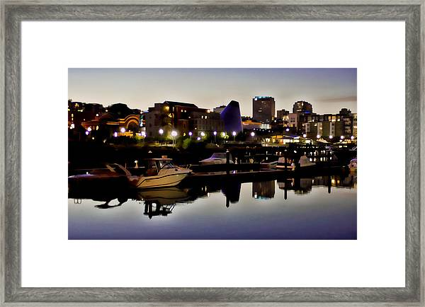 Foss Waterway At Night Framed Print