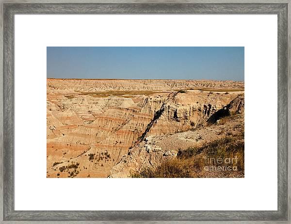 Fossil Exhibit Trail Badlands National Park Framed Print