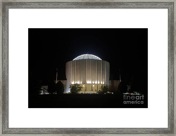 Founders Hall At Night Framed Print