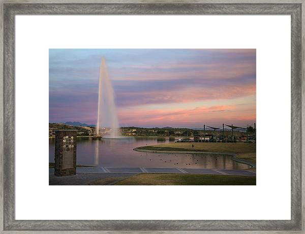 Fountain At Fountain Hills Arizona Framed Print