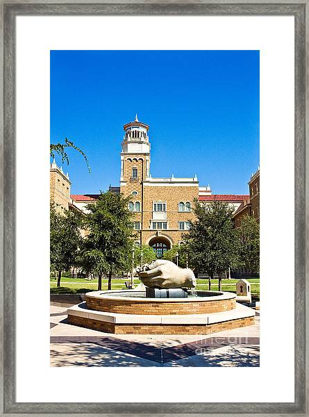 Framed Print featuring the photograph Fountain Of Knowledge by Mae Wertz