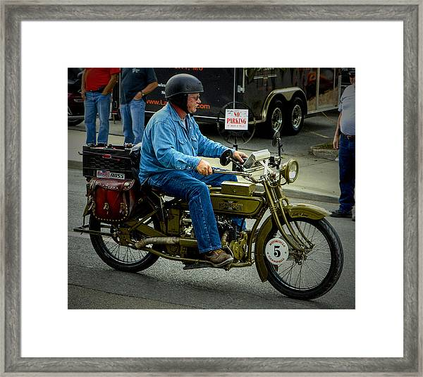 Four Cylinder Henderson Motorcycle Framed Print
