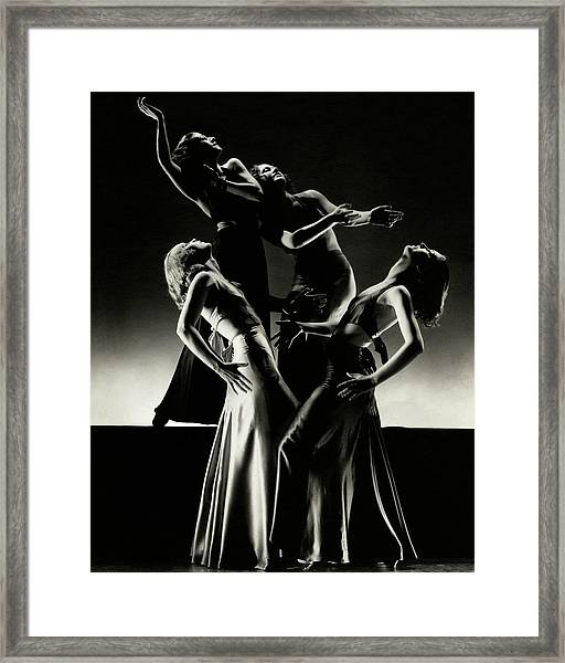 Four Dancers Of The Albertina Rasch Ballet Group Framed Print