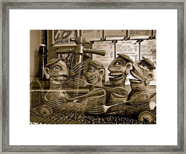 Smoking Forks Framed Print