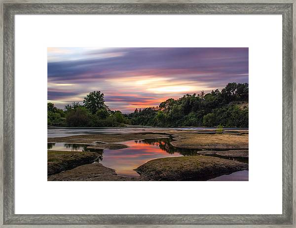 Four Minutes On The American River Framed Print