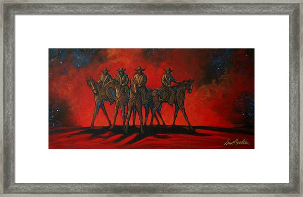 Four On The Hill Framed Print