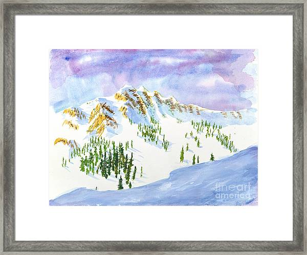 Four Sisters At Snowbasin Framed Print