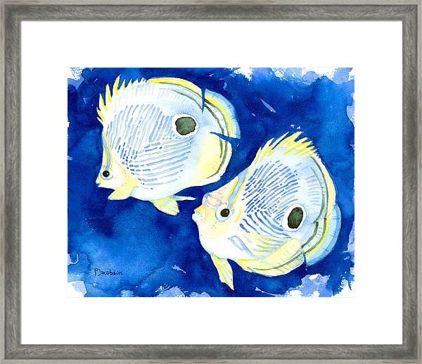 Foureye Butterflyfish Framed Print