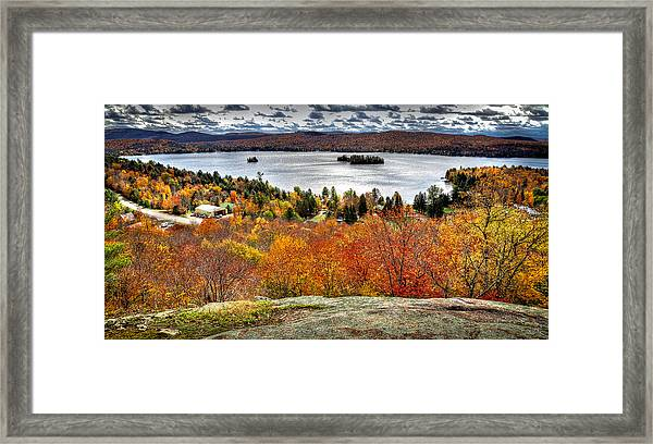Fourth Lake From Above Framed Print