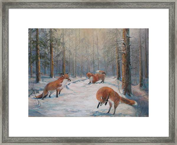 Forest Games Framed Print