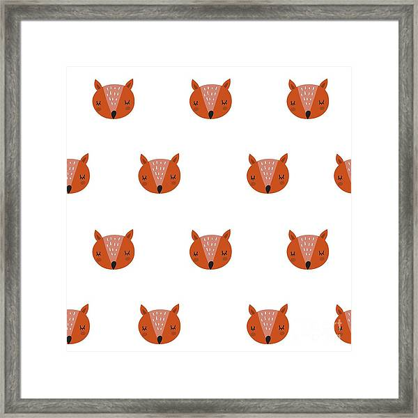 Fox Print Framed Print by Nadezda Barkova