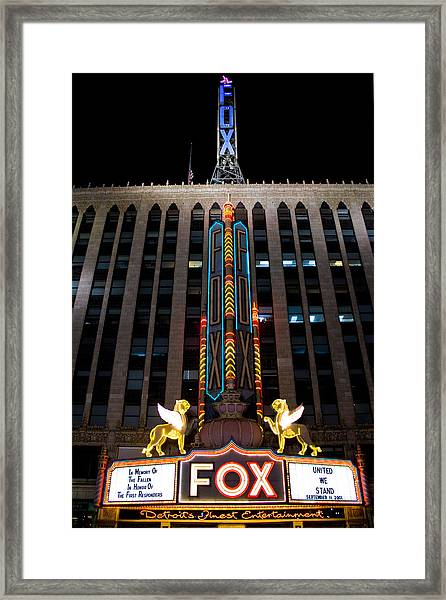 Fox Theater In Detroit Michigan Framed Print