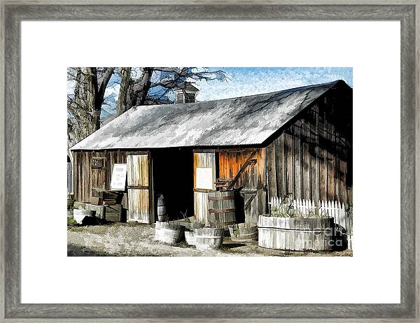Foxen Winery Framed Print