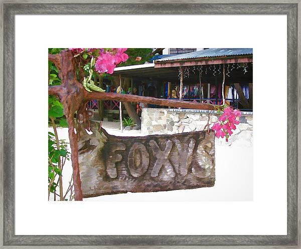 Foxy's 2 Framed Print