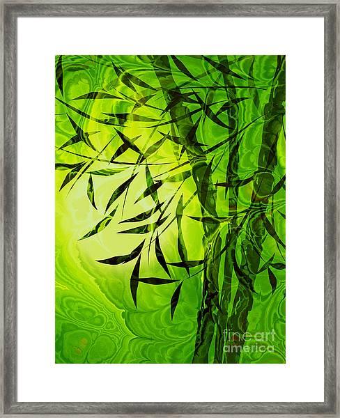 Fractal Bamboo Framed Print
