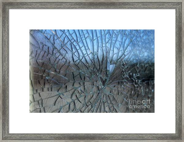Fractured Heart Framed Print