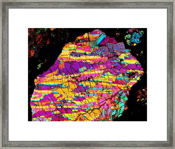 Fractured Sunrise On Planet Magoo Framed Print