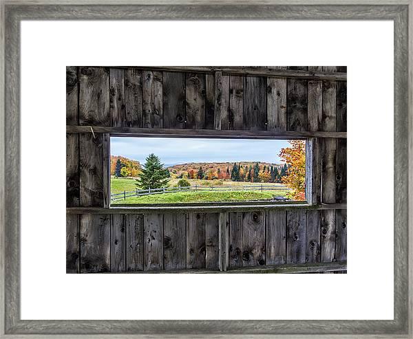 Framed-autumn In Vermont Framed Print