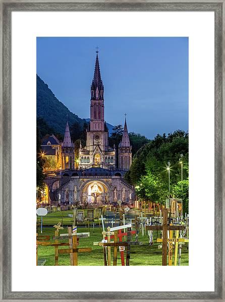 France, Hautes Pyrenees, Lourdes Framed Print