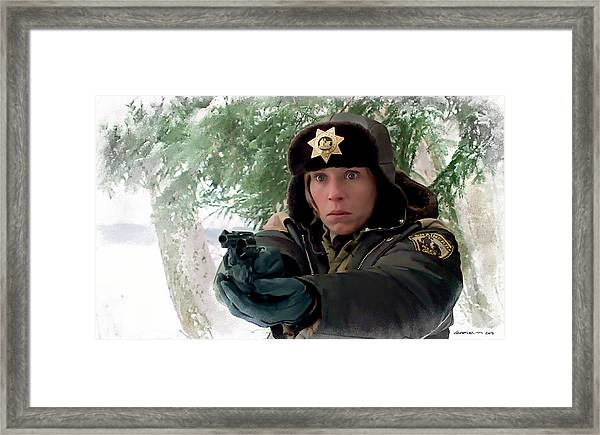 Frances Mcdormand As Marge Gunderson In The Film Fargo By Joel And Ethan Coen Framed Print