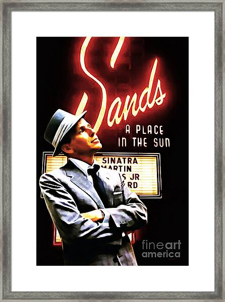 Frank Sinatra I Did It My Way 20150126brun V2 Framed Print by Wingsdomain Art and Photography