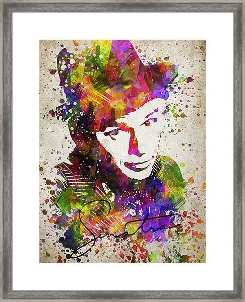 Frank Sinatra In Color Framed Print