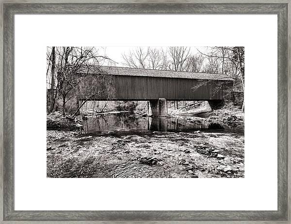 Frankenfield Bridge Over The Tinicum Creek Framed Print