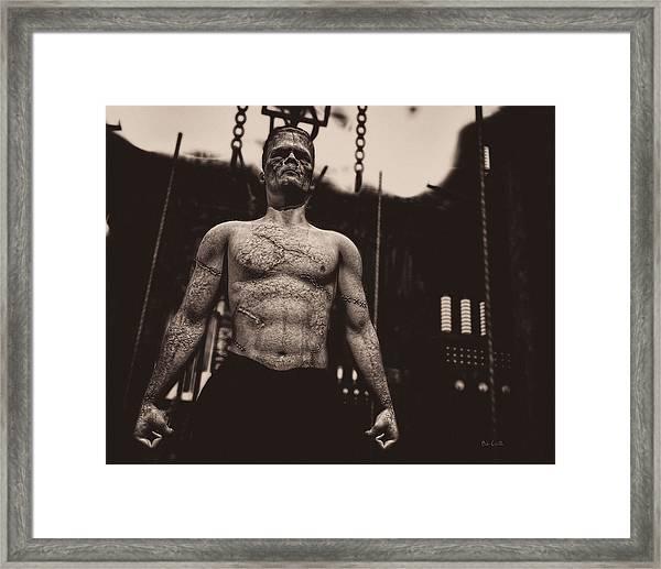 Frankenstein's Science Framed Print