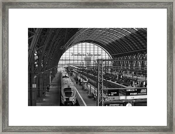 Frankfurt Bahnhof - Train Station Framed Print