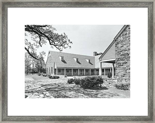 Franklin D Roosevelt Library Framed Print
