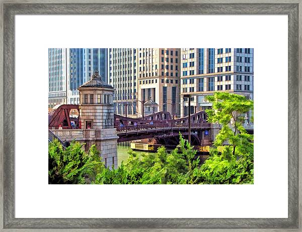 Chicago Franklin Street Bridge Framed Print