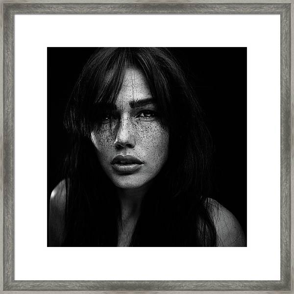 Freckles [romi] Framed Print by Martin Krystynek Qep