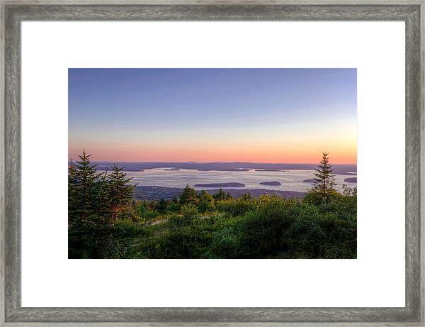 Frenchman's Bay From Cadillac Mountain Framed Print