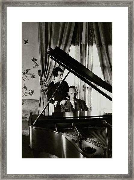 Fred And Adele Astaire At A Piano Framed Print by Cecil Beaton