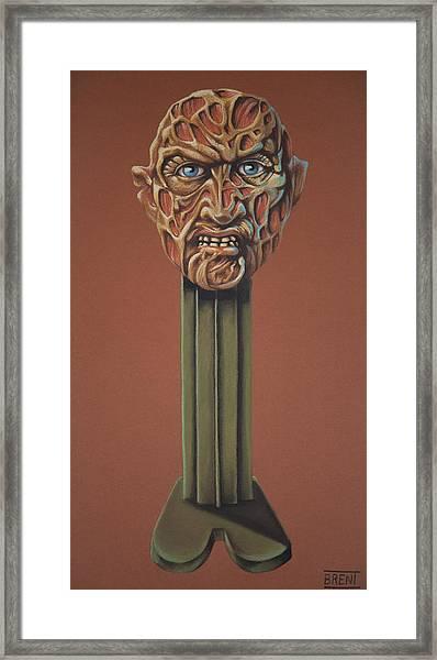 Freddy Krueger  Framed Print by Brent Andrew Doty