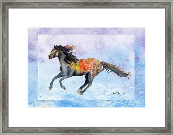 Da114 Free Gallop By Daniel Adams Framed Print